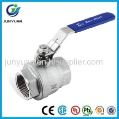 2PC LIGHT DUTY STAINLESS STEEL BALL VALVE FOR WATER TREATMENT