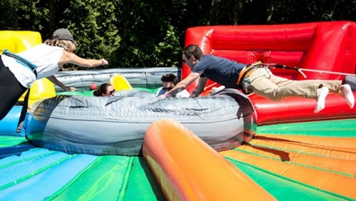 Bungee Run Game inflatable Hungry Hungry Hippos