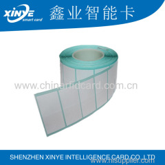 Entrada de antena de 125 kh rfid / ntag 213 placa de cartão nfc prelam / rfid sheet for hotel card