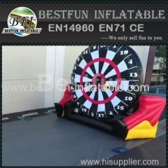 Inflatable shooting target football goal