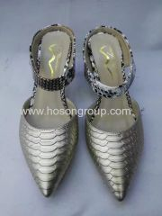 Silver Pointy Stiletto Heel Mulheres Dress Shoes
