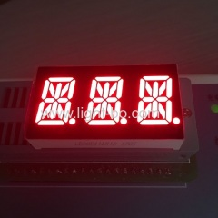 3 digit 14 segment;triple digit 14 segment led display; 3 digit 0.54