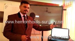Dr.Praveen Sahave presenting BIEM device for proctology