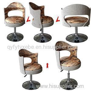 European Style Modern Office Furniture Fabric Gas Lift Bar Chair