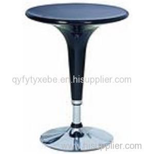 China Customized ABS Round Bar Table With Chromed Base