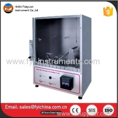 Automatic Textile Fabric 45 Degree Flammability Testing Machine