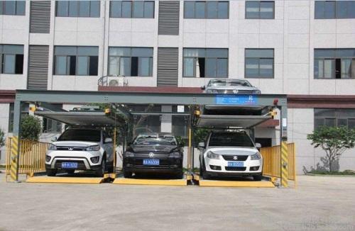 Double-storey auto parking puzzle parking garage
