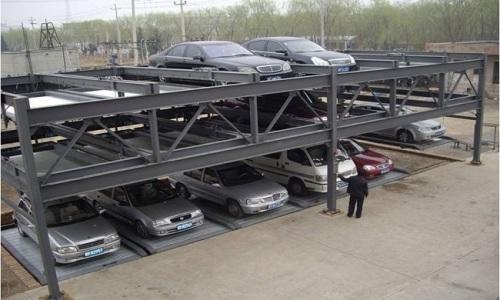 Automated three-storey car parking garage