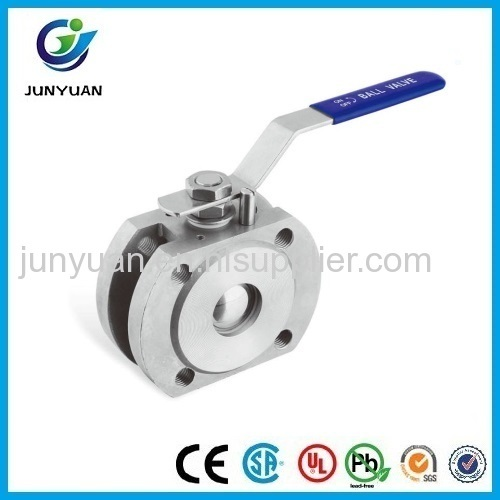 Wafer Type Ball Valve With Direct Mounting Pad DIN PN16/40