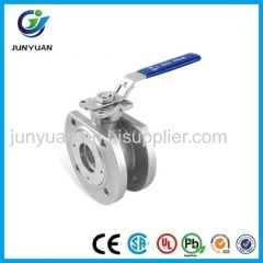 wafer type stainless steel 304 floating ballvalve
