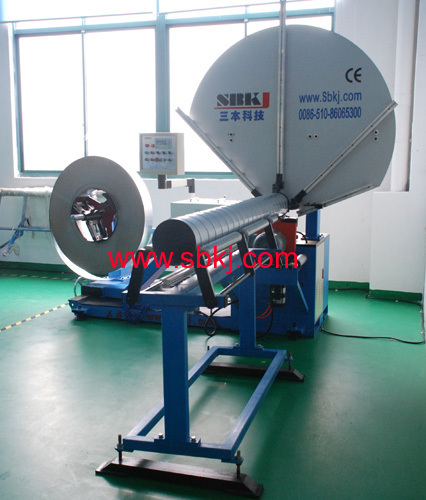 spiral pipe making machine