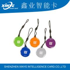 Non-standard shape HF rfid nfc epoxy card with hole punching
