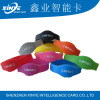 13.56mhz Adjustable silicone ntag216 passive rfid wristband
