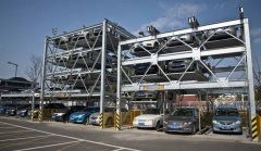 Four storey automatic parking garage