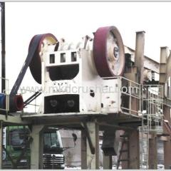 Jaw crusher basalt crushing