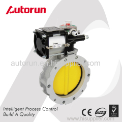 CEMENT/POWDER BUTTERFLY VALVE WITH PNEUMATIC ACTUATOR