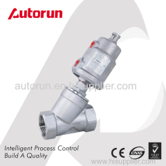 THREAD ENDS ANGLE SEAT VALVE WITH SUS PNEUMATIC ACTUATOR
