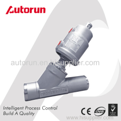 WELDING ENDS PNEUMATIC ACTUATED ANGLE SEAT VALVE