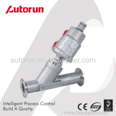 TRI-CLAMP ENDS PNEUMATIC ACTUATED ANGLE SEAT VALVE