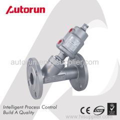 FLANGE ENDS ANGLE SEAT VALVE WITH SUS PNEUMATIC ACTUATOR