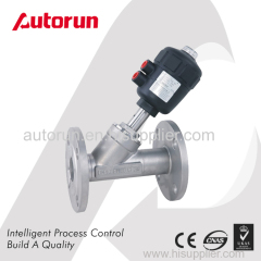 FLANGE ENDS PNEUMATIC ACTUATED ANGLE SEAT VALVE