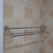double towel bar brass towel rail chrome finish