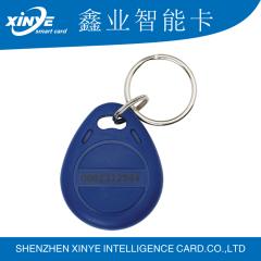 Custom color13.56mhz rfid epoxy door keyfobs with serial number printing