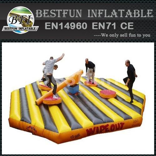 Redneck Log Slammer Inflatable Wipe Out Game