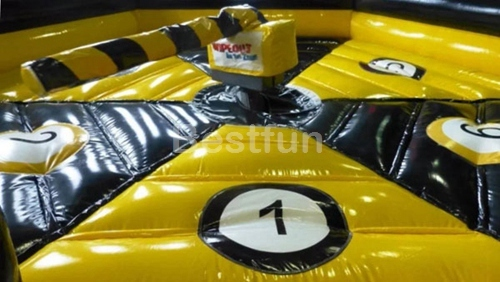 Customized inflatable meltdown wipeout challenge games