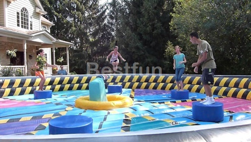 Inflatable Meltdown Zone battle field game