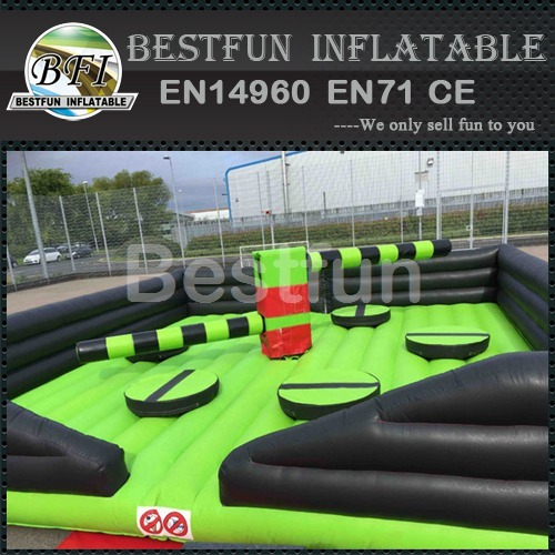 Inflatable mine sweeper wipeout game