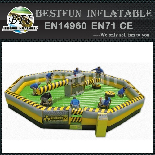 Inflatable wipeout game Mine Sweeper