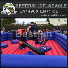 Adult inflatable rodeo games wipeout