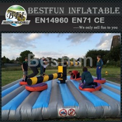 Giant wipeout inflatable obstacle course