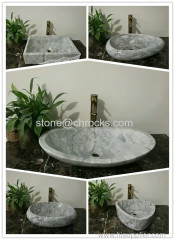 bathroom vessel sink stone washing baisn