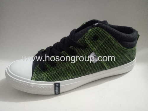Cloth mens tie up casual shoes
