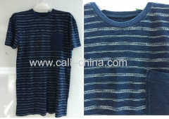 Men's Indigo Round-neck T-shirt