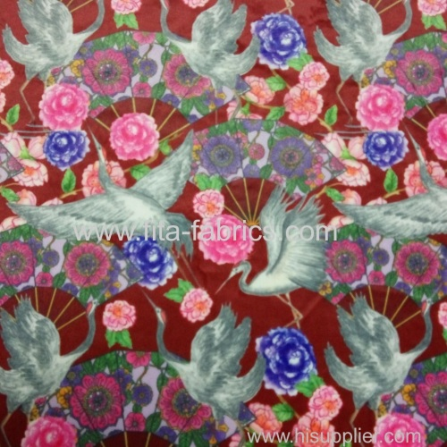 Digital printing french Velboa fabric with Chinese style
