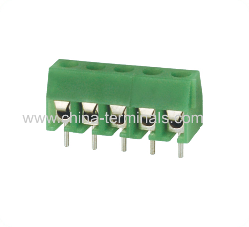 pcb mount screw terminal block