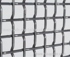 crimp style wire mesh screen with flat top