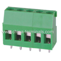 with cover 5.08mm screw pcb terminal blocks