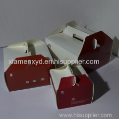 white card paper cake box manufacturer price and sizes with different designs