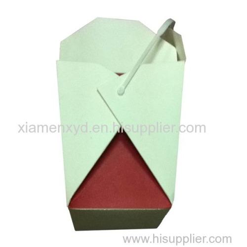 Disposible take away paper rice chicken box