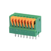 5A UL ROHS pitch 2.54 Screwless Push-Button PCB Terminal Blocks