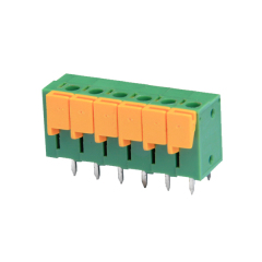 Spring-cage connection terminal block