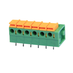 right angle 7.62mm screwless terminal block