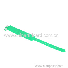 One-time-use Disposable LF RFID PVC Wristband