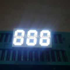 Ultra bright white Small size triple digit 0.25inch common aonde 7 segment led display for home appliances