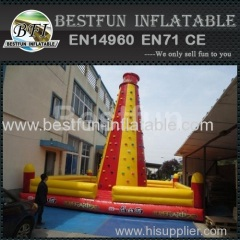 inflatable jumping bouncer climbing wall games