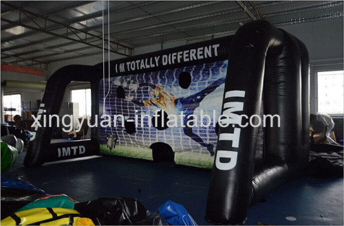 Inflatable soccer target for soccer shooting